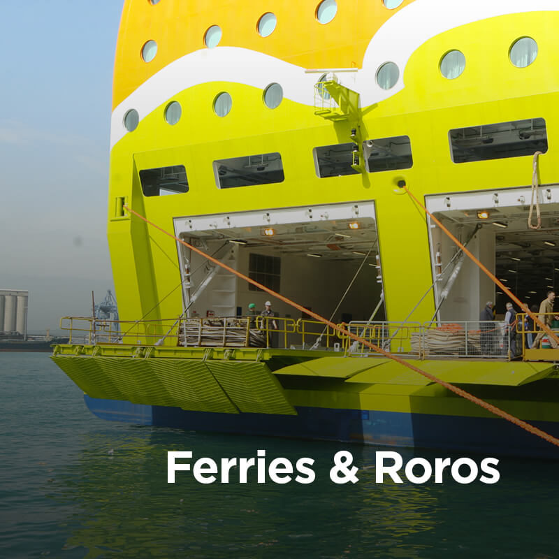 Navim Group solutions in construction and supply of marine equipment for Ferries and RoRo
