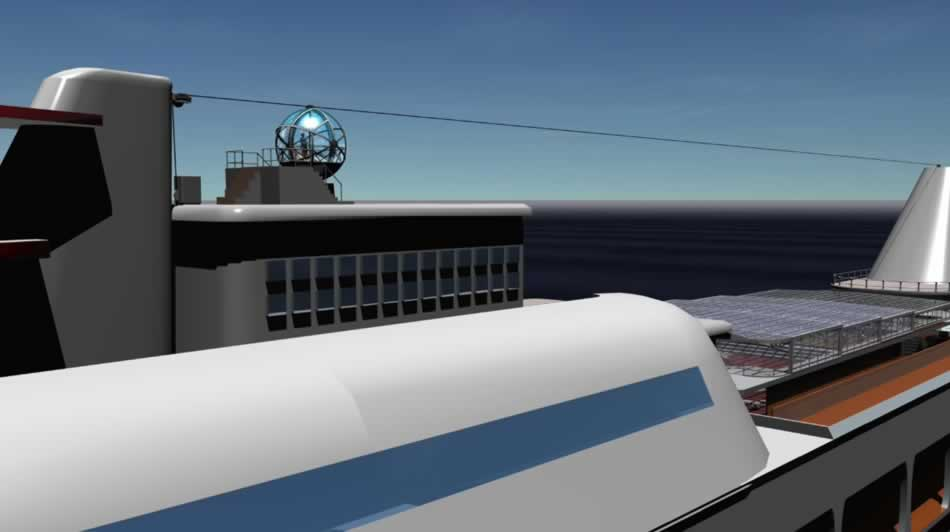 Magic moon, panoramic sphere for Cruise Vessels - Navim Group