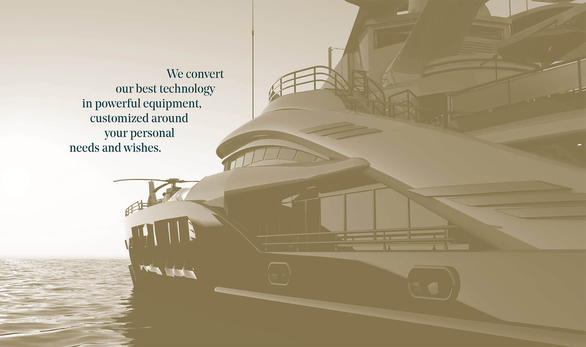 Navim Group technology equipment for Mega yacht and Luxury yacht